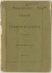 Catalog of Former Students, Not Alumni of Butler College 1855-1900 by Butler University