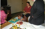 Jeremiah Farrell and Blind Students working on Puzzles at a Detroit, MI Meeting