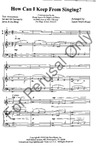 How Can I Keep From Singing? SATB | 10-96685
