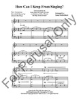 How Can I Keep From Singing? Treble & SATB | 10-96680
