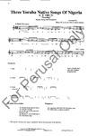 Three Yoruba Native Songs of Nigeria   21-20514