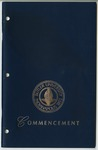 Cover of Commencement Program