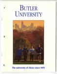 Scan of Butler University Admissions Packet